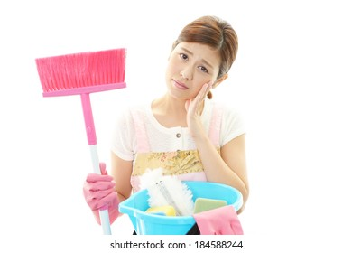 Tired housewife