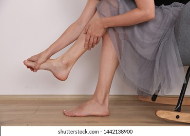 Tired legs massage, flat feet massage. Posture correction, Physical therapy.