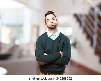 tired man on white