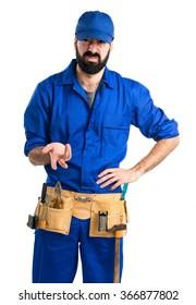 Tired plumber