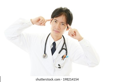 Tired and stressed doctor