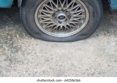 Tires damaged by parking left too long.