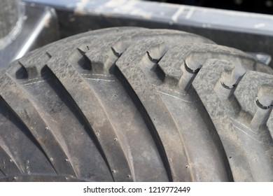Tires from a tractor