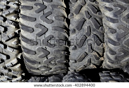 Tires Used Worn Recycling Waste Management Stock Photo (Edit