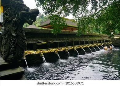 Tirta Empul temple (Holy Spring Water Temple) is Hindu Balinese water temple at Tampaksiring, Bali, Indonesia.