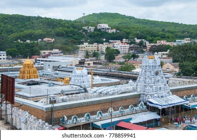 TIRUMALA, HYDERABAD,INDIA 31 JULY 2015 : Devotees visit to Tirupati Balaji temple or Venkateswara Temple, The most visited place of Hindu pilgrimage and second in world's richest temples.