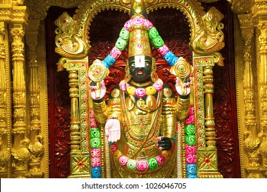 Tirupati balaji statue, BAPS Swaminarayan mandir, Katraj