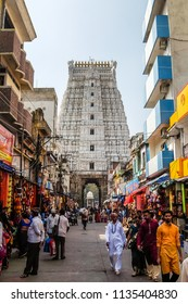 Tirupati, India - Circa January, 2018. Devotees visit Sri Govinda Raja Swamy Temple, Tirupati.