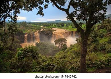 Tis Isat Falls on the Blue Nile. Ethiopia