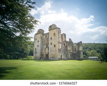 Tisbury, Dorset / England - July 14, 2019: The old Wardour castle in the county of Dorset, in England.