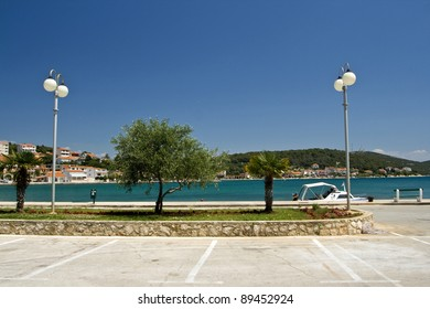 Tisno waterfront and promenade