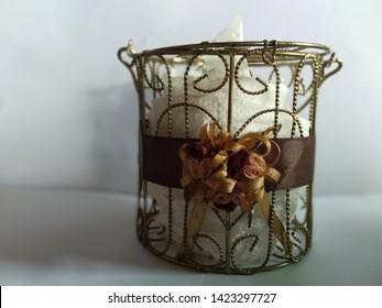 the tissue box white background