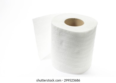 tissue isolated on a white background focus on one point