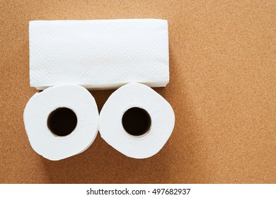 Tissues roll, toilet paper, kitchen towels for with setup design