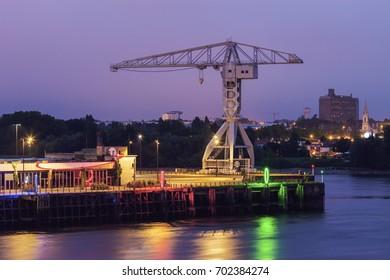 Titan crane on Island of Nantes. Nantes, Pays de la Loire, France