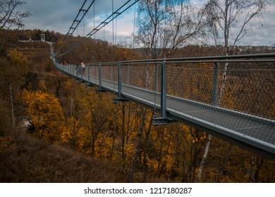 Titan RT suspension bridge in Harz Mountains National Park, Germany