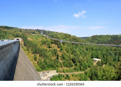 Titan RT suspension bridge in Harz Mountains National Park in Germany