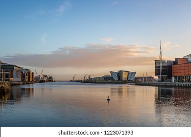 Titanic Belfast in the morning