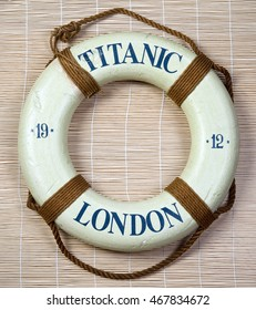 Titanic lifesaver with London and  date of 1912 on it.