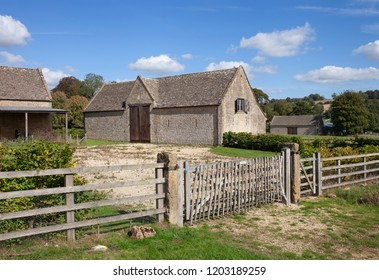 Tithe Barn at Guiting Power, Cotswolds, Gloucestershire, England