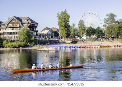 TITISEE, GERMANY - AUG 10: Titisee, a municipality in the Black Forest mountain range on Aug 10, 2015. Its in the state of Baden-Wurttemberg in southwestern Germany.