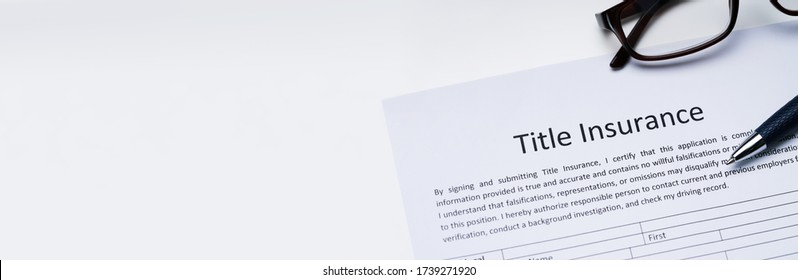 Title Insurance Contract Paper And Application Form