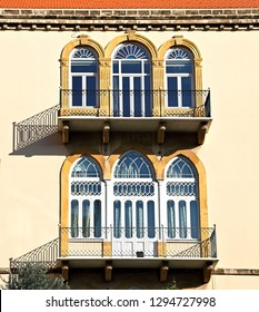 Title: Traditional triple arch Lebanese windows and dorrs