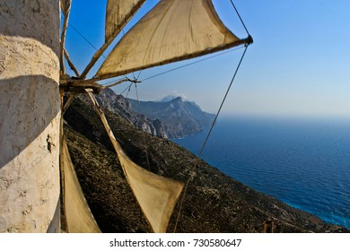 Title:The windmill- Olimpo is a beautiful mountain village overlooking the sea in the northwest part of the island of Karpathos
