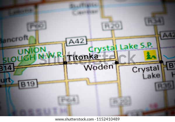 Titonka. Iowa. USA on a map