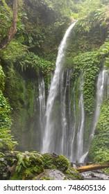 Tiu Kelep Waterfall in the near of the Volcano Rinjani, Lombok, Indonesia