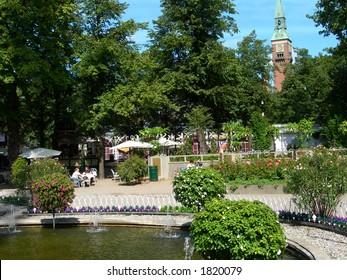 Tivoli garden in Copenhagen.