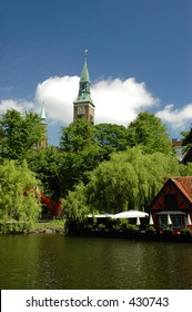 Tivoli gardens in Copenhagen, Denmark.