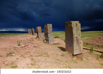 Tiwanaku ruins near La Paz, Bolivia