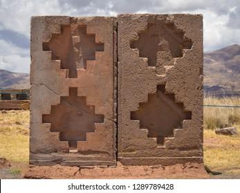 Tiwanaku (Tiahuanaco), Pre-Columbian archaeological site, Bolivia. La Paz