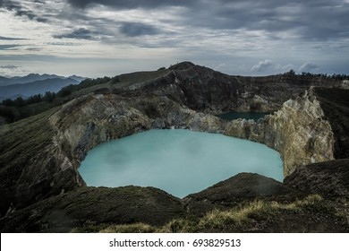 Tiwu Koo Fai Nuwa Mur and Tiwu Ata Polo, Kelimutu Crater Lakes on the island of Flores 29 May 2017