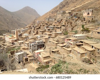 Tizi Oussem, a Berber village, in the Toubkal National Park (Atlas mountains) in Marocco