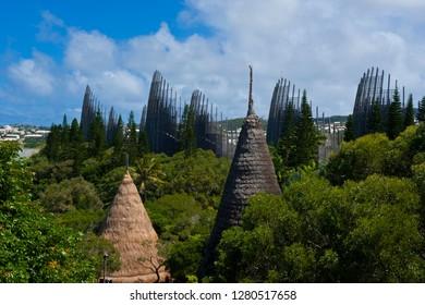 Tjibaou Cultural Center in Noumea capital of Melanesia, New Caledonia, South Pacific