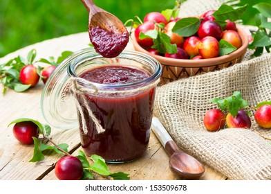 Tkemali Georgian sauce with cherry plum