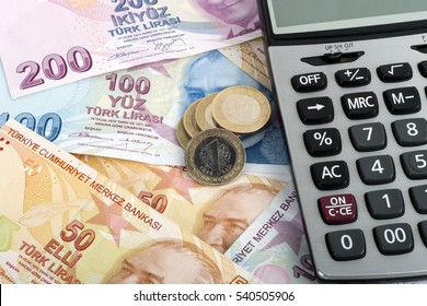 TL Paper Money and Coins with calculator