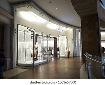 Tlalnepantla de Baz, Estado de Mexico / Mexico - 08 31 2019: ZARA store inside Mundo E, women clothes store in Mexico