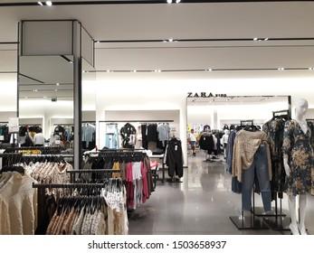 Tlalnepantla de Baz, Estado de Mexico / Mexico - 08 31 2019: Inside ZARA store at Mundo E, women clothes store in Mexico