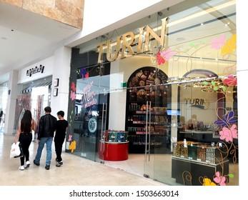 Tlalnepantla de Baz, Estado de Mexico / Mexico - 08 31 2019: TURIN store inside Mundo E, chocolates and candies store in Mexico