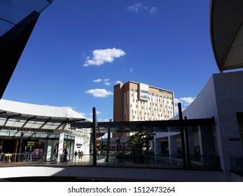 Tlalnepantla de Baz, Estado de Mexico / Mexico - 08 31 2019: Hotel City Express Plus view from Mundo E,