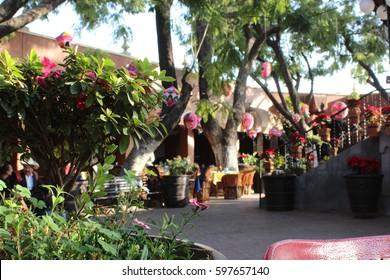 "Tlaquepaque, Guadalajara, Jalisco / Mexico - December 2012: ""The Parian""."