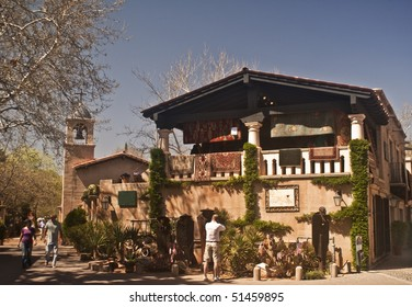 Tlaquepaque Village Shopping Area in Sedona, Arizona - a major restaurant and shop area in this resort destination