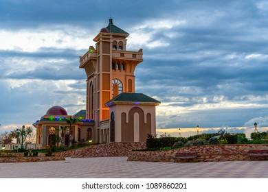 TLEMCEN, ALGERIA - MARCH 8, 2018: Plateau de Lalla Setti of Tlemcen, a city in north-western Algeria