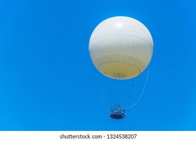 TLV balloon flying over hayarkon park in Tel Aviv, Israel