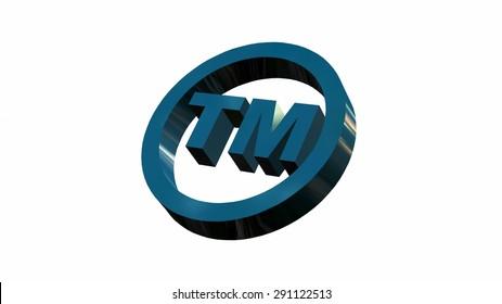 TM - round Trade Mark sign isolated on white background