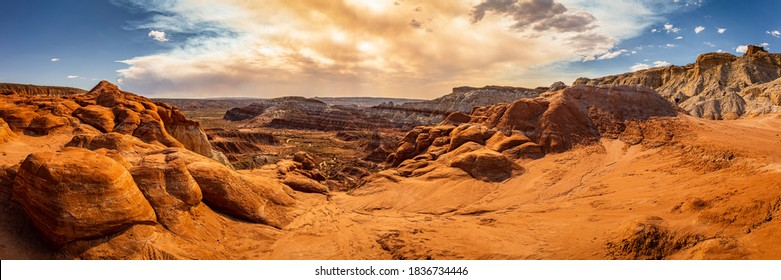 The Toadstool Trail leads to an area of hoodoos and balanced rock formations created by centuries of erosion and is part of the Grand Staircase-Escalante National Monument in Kane County, Utah.