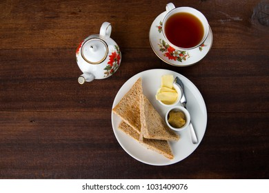 toast butter and tea